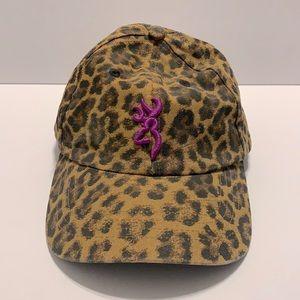 Browning For Her Leopard Print Hat Adjustable